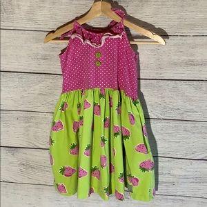 Eleanor Rose Strawberry dress- girls 10/12